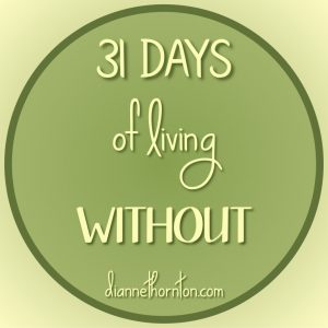 What does it mean to live--without? Some people live without hope. God says live without grumbling! If we are His, He sees us without blemish. #write31days