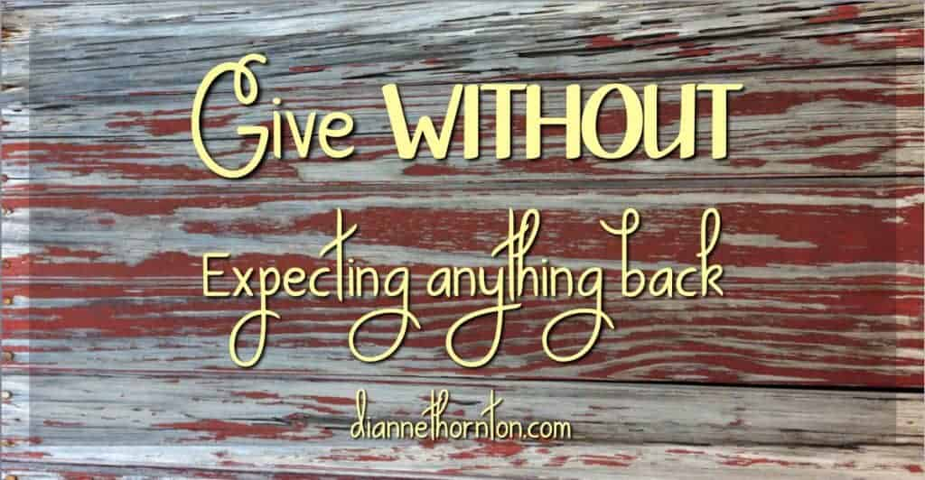 How do you feel about your stuff? Do you hang onto it tightly? Or are you willing to share with anyone in need? Will you give without expecting in return?