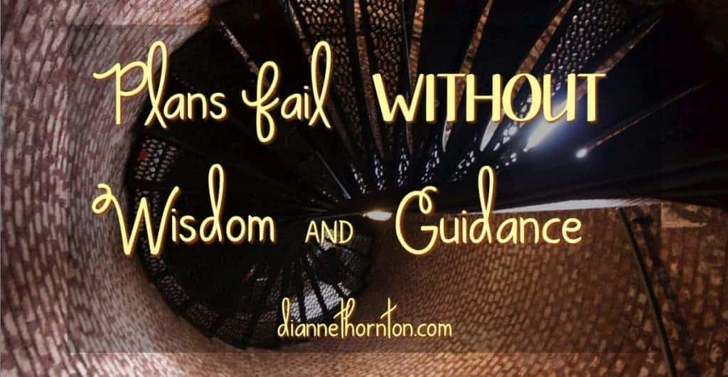 Are you facing a confusing situation? Plans fail without wisdom and guidance? Ask wise friends. Ask God for wisdom. He'll gladly and generously give it.