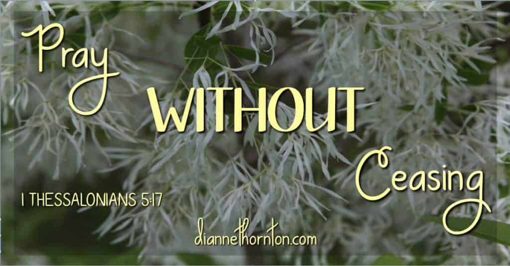 What do you think about when you are grocery shopping, preparing dinner, doing yard work? Make that time count for eternity, and pray without ceasing!