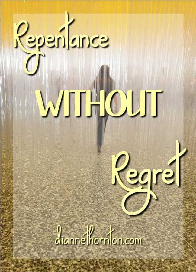 What do you do when you are faced with your sin? Don't despair! Godly sorrow leads to repentance without regret. His forgiveness is complete.