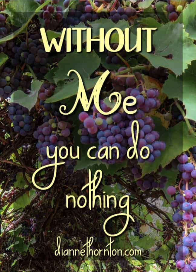 Have you ever found yourself busy serving God but feeling ineffective? Are you connected to Christ? Remember what He said, Without me you can do nothing!
