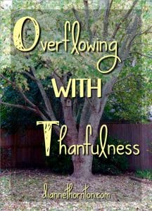 Thanksgiving is around the corner. Are you ready? Here are 3 steps to overflow with thankfulness!