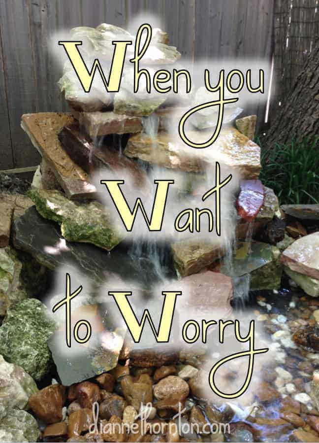 Where is your focus when faced with a worrisome situation? Your focus is the object of your worship. Instead of worry, focus on the One Who walks with you!