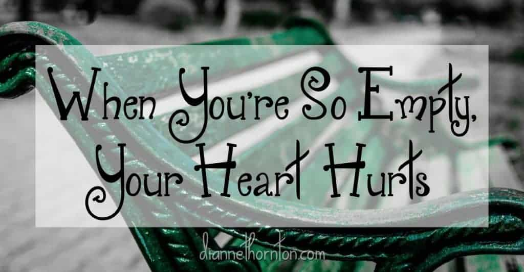 When you are emotionally and spiritually spent--so empty that your heart hurts--where do you go? What do you do to recharge? God has a plan ...