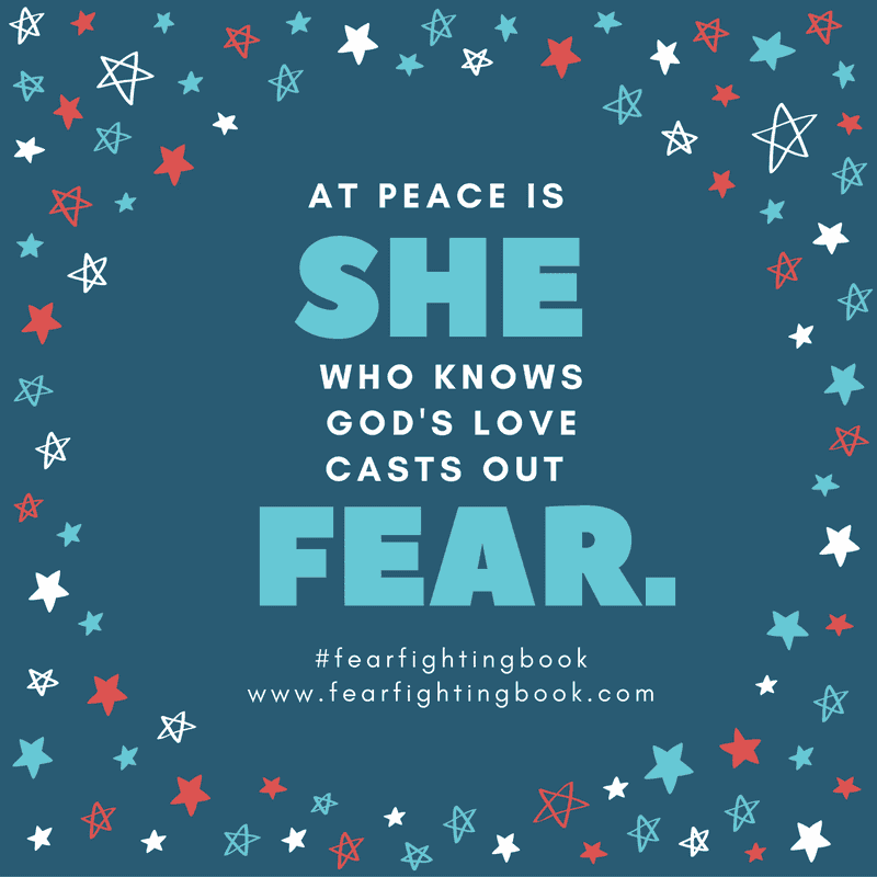 Do you fight fear? You can live in peace instead. Join others who are fear fighting. Breaking free & boldly moving forward in God's peace, purpose, and joy.