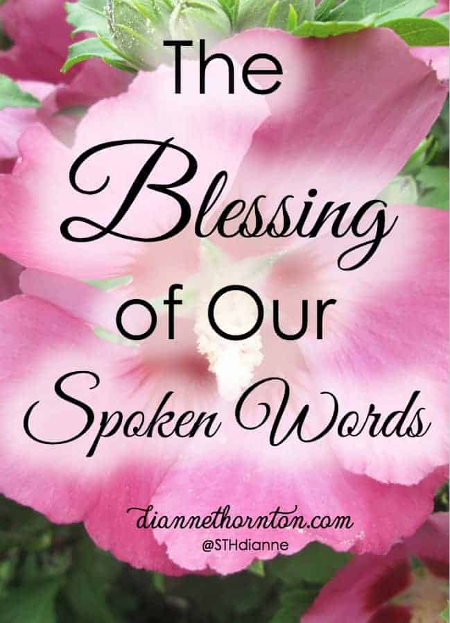 Words. Spoken words. Blessing others with our spoken words is life! Do you know someone who is desperate for this gift? Be a life giver by blessing others!