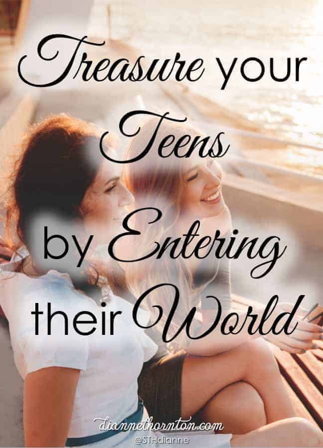 Does your relationship with your teen look like you hoped it would? Mine doesn't. I'm learning that entering their world opens doors to deeper relationship.
