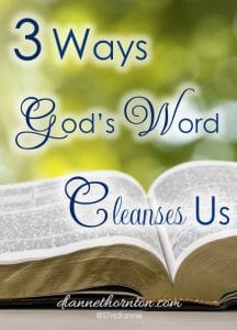 God's Word Cleanses Us. It is alive and active. When we sit before Him, looking carefully at His perfect Word--which gives freedom--how will we respond when He shines His light on sin in our lives?3 Ways God's Word Cleanses Us