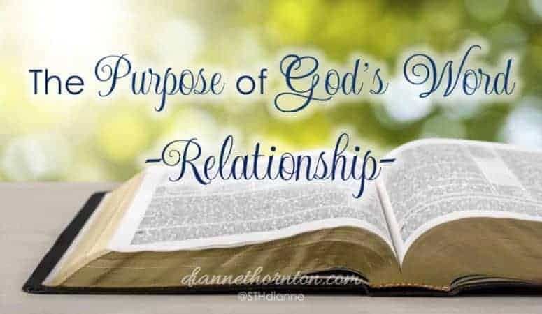 The Purpose of God's Word–Relationship