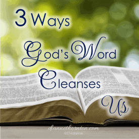 God's Word Cleanses Us. It is alive and active. When we sit before Him, looking carefully at His perfect Word--which gives freedom--how will we respond when He shines His light on sin in our lives?