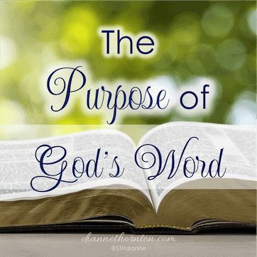 Purpose of God's Word