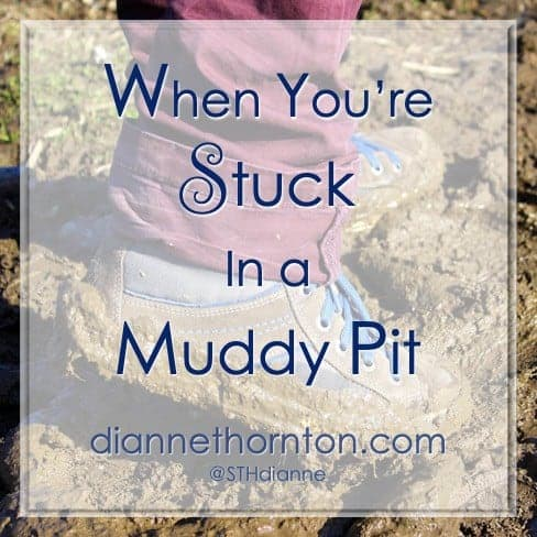 Have you ever been stuck in a muddy pit? Despair so dark, there seems to be no escape. Emotions are high, or low, and you need a way out. God is there. He offers His strong, right hand to lead you to solid ground.
