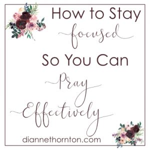 As moms, we get to be part of God's work in our children's lives through our prayers. But it's easy to get distracted. Focus will help us pray effectively.